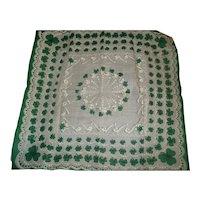 Vintage Hankie Shamrocks / St. Patrick's Day Handkerchief