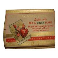 Vintage Noel Christmas Holiday Matches - Original Box