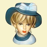 Napcoware Lady Head vase #C7494