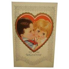 Vintage Valentine's Day Post Card