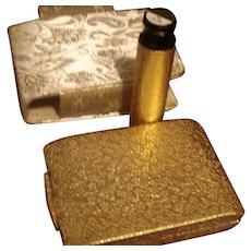 Golden Bouquet Max Factor Regency Compact, carrier & lip stick