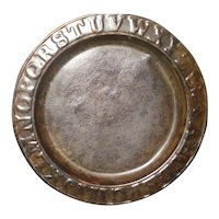 Early Tin child's ABC Plate