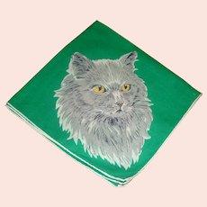 Vintage Handkerchief Ladie's Kitty Cat