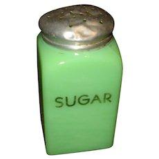 McKee Jadite Jadeite Glass Square Sugar Shaker