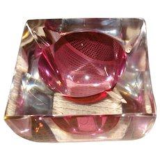 Mid Century Modern Murano Glass Ashtray