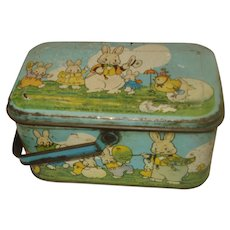 Vintage Tindeco Peter Rabbit Easter Candy Tin