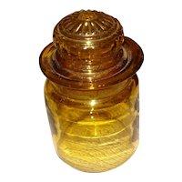 Vintage Amber Apothecary Jar