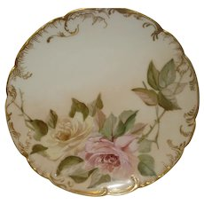 Haviland Limoges Plate with Roses