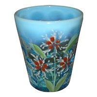 Victorian Blue Opalescent Glass Tumbler