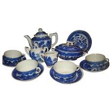 Blue Willow Tea Set/ Children's Dishes