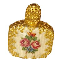 Vintage Perfume Petit Point with glass dauber - Made in Austria