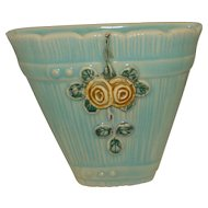 Weller Pottery Wood Rose Wall Pocket