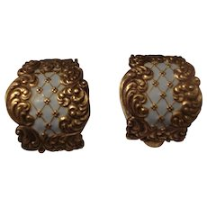 Vintage Pair of Sterling Dress Clips
