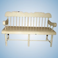 Off White Painted Doll House Bench