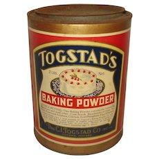 Vintage Togstad's Baking Powder Tin