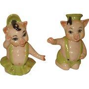 Vintage Ceramic Arts Studio Pigs Salt & Pepper Shakers