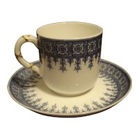 Royal Worcester Blue & White Demitasse Set