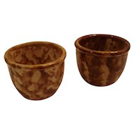 (2) Bennington pottery custard cups