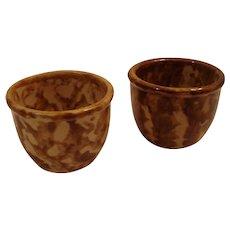 (2) Bennington pottery custard cups
