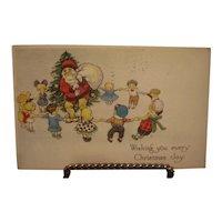 Christmas Joy Postcard with Santa
