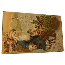 Early Christmas Postcard with Santa