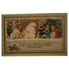 Vintage Christmas PostCard Bonton Art Co.