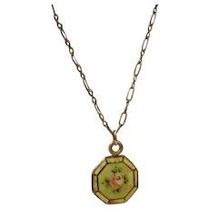 """Vintage Guilloche Necklace """"Kiddie Kraft"""""""