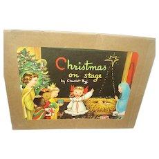 """Vintage Christmas Book """"Christmas on Stage"""" 1951"""