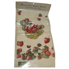 Kay Dee Hand Printed Linen Strawberry Towel
