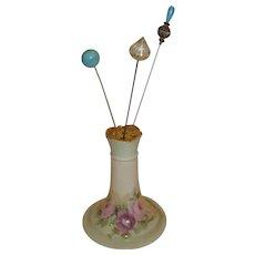 Limoges Porcelain Hat Pin Holder - Hold for Laurie