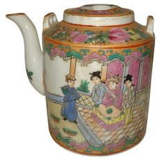 Chinese Rose Medallion Teapot