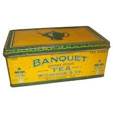 Vintage Banquet Tea Tin - Large Size