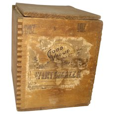 Dovetailed Wood Advertising Box Wintergreen Extract