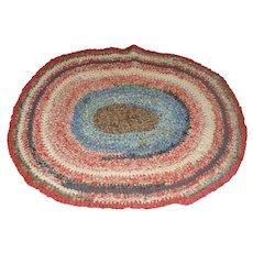 Nice Vintage Rag Rug