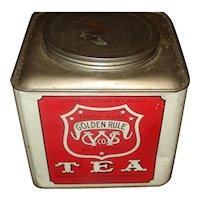 Large Advertising tin Golden Rule Tea