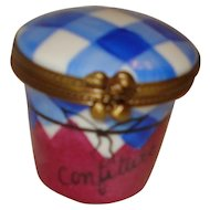 Limoges Porcelain Trinket Box with Strawberry