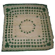 Vintage St. Patrick's Day Hanky Handkerchief