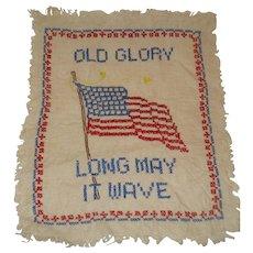 "Vintage Cross Stitch Flag ""Old Glory"""