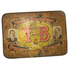 Vintage Advertising Tin Y_B Cigars  Yocum Brothers  Reading, PA