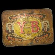 Vintage Advertising Tin Y_B Cigars  Yocum Brothers  Reading, PA