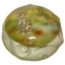 Royal Bayreuth Porcelain Dresser Box Hunting Scene
