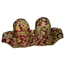 Lord Nelson Brocade chintz Salt Pepper with tray