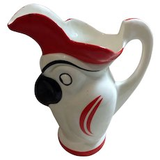 Czech Art Pottery Bird Pitcher