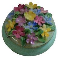 Staffordshire Porcelain Trinket/ Pill Box