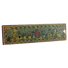 Vintage Lithograph Child's Pencil Box Circus Theme