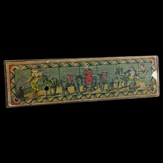 Vintage Lithograph Child's Pencil Box Circus Theme