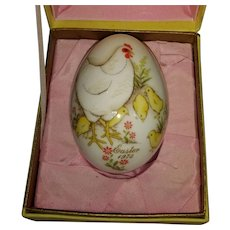 1973 Noritake porcelain Easter egg
