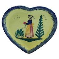 Quimper Pottery Heart