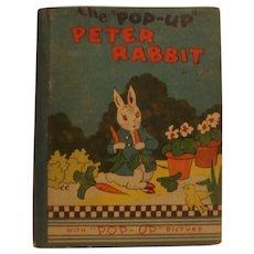 First Edition Midget Peter Rabbit Pop-Up Book 1934