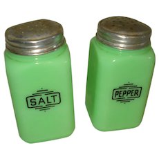 McKee Jadite/ Jadeite Glass Salt & Pepper Shakers